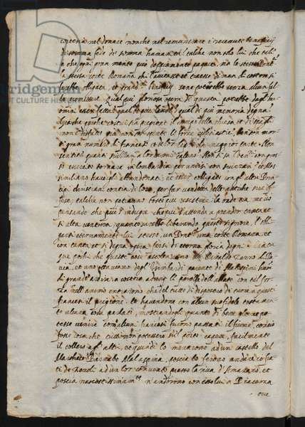 Page from Historical letters from the year 1509 to 1528 by Bartolomeo Bressan, Florence 1857 (pen & ink)
