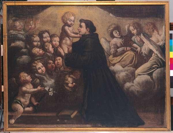 Saint Anthony of Padua, Child Jesus and Angels (oil on canvas)