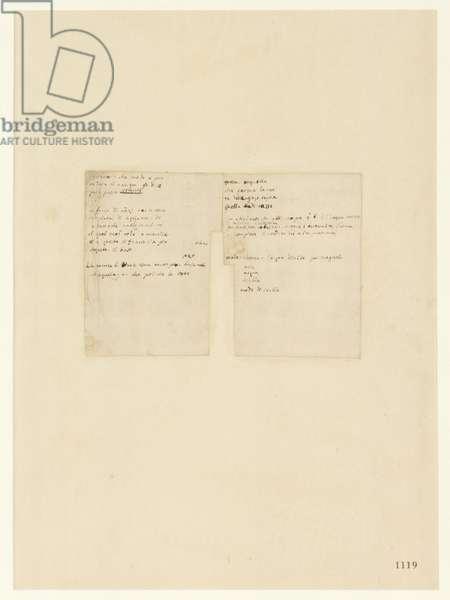 Codex Atlanticus, sheet 1119 recto