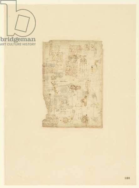 Codex Atlanticus, sheet 580 recto