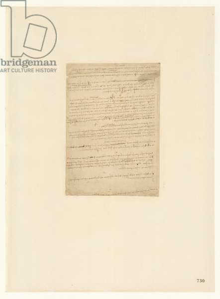 Codex Atlanticus, sheet 730 recto