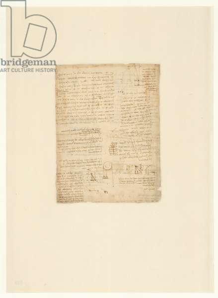Codex Atlanticus, sheet 539 verso