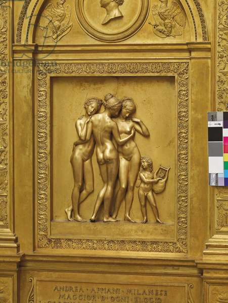Detail from monument to Andrea Appiani (1754–1817), Milanese School, 19th century (gilt bronze)