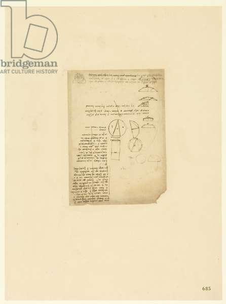 Codex Atlanticus, sheet 685 recto