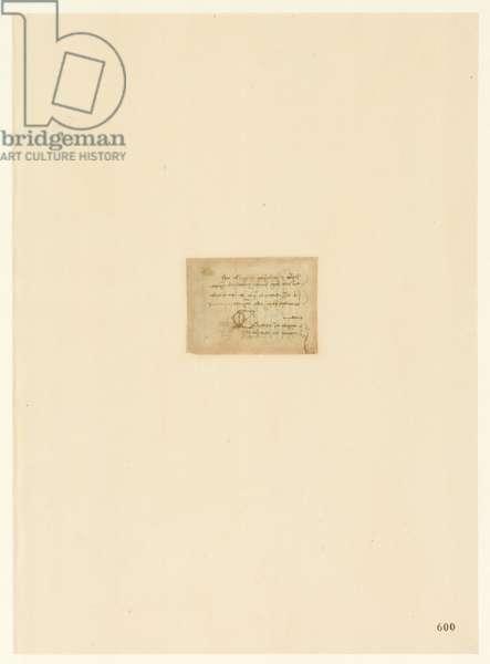 Codex Atlanticus, sheet 600 recto