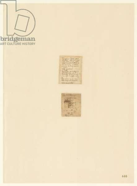 Codex Atlanticus, sheet 605 recto