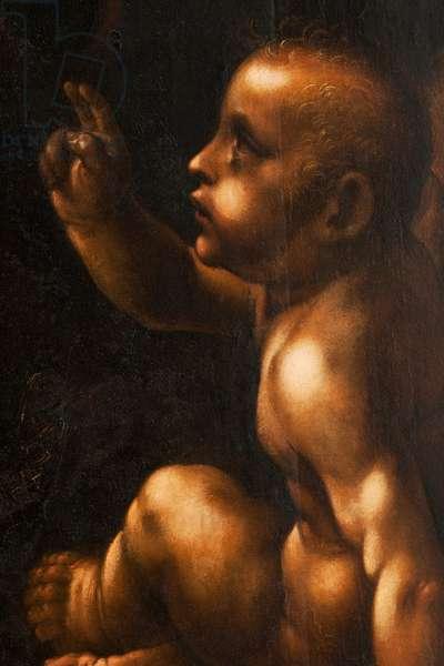 Child Jesus, detail from The Virgin of the Rocks, after Leonardo da Vinci (1452-1519), c.1611-18 (oil on panel)