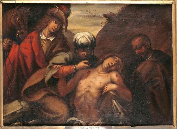The Parable of the Good Samaritan, c.1650 (oil on panel)