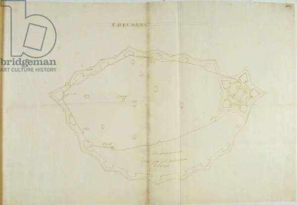 Plan with the project for the new outer fortifications of Cremona