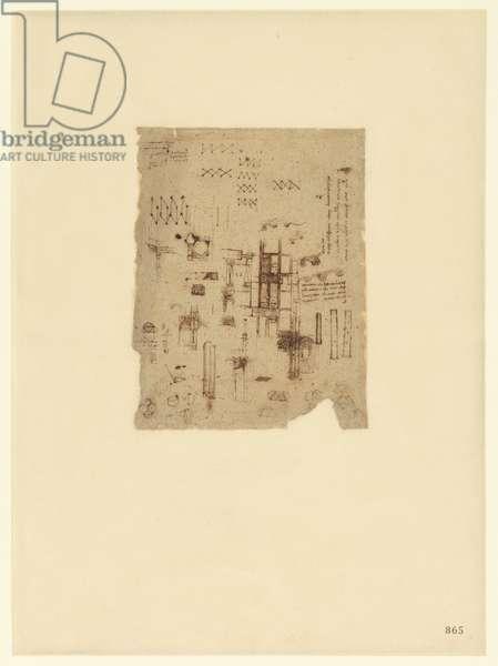 Codex Atlanticus, sheet 865 recto