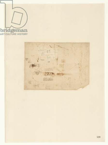 Codex Atlanticus, sheet 520 recto