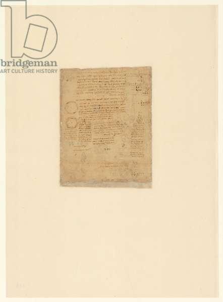 Codex Atlanticus, sheet 615 verso