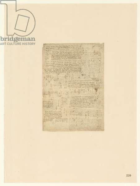 Codex Atlanticus, sheet 220 recto