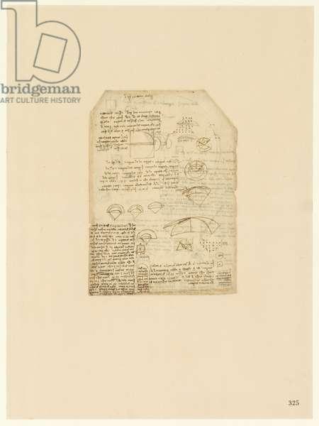 Codex Atlanticus, sheet 325 recto