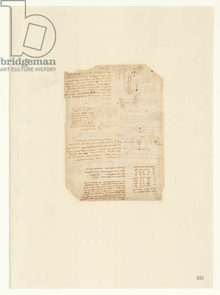 Codex Atlanticus, sheet 525 recto