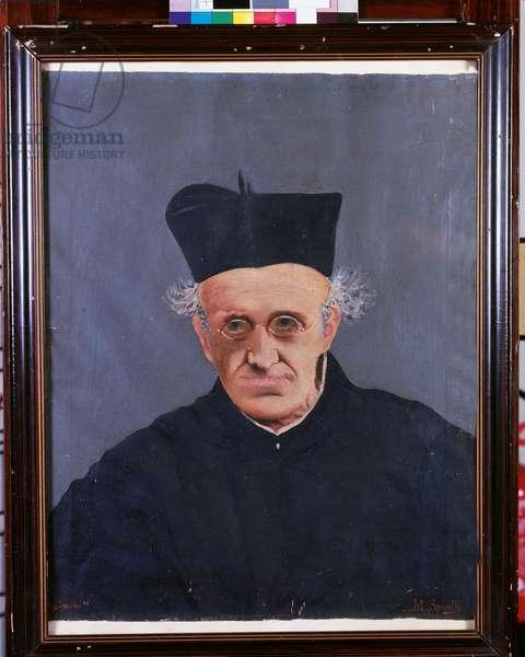 Portrait of Father Luigi Villoresi (oil on cardboard)