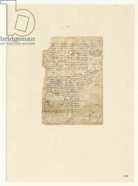 Codex Atlanticus, sheet 530 recto