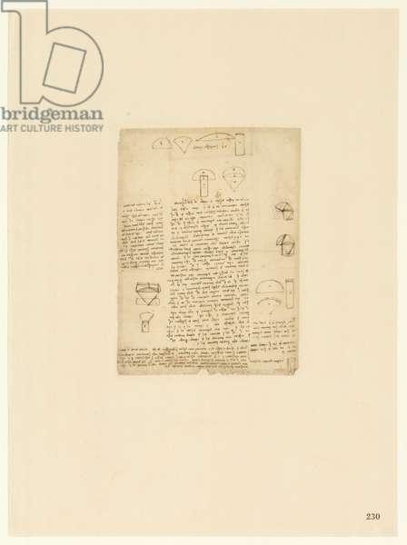 Codex Atlanticus, sheet 230 recto