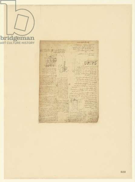 Codex Atlanticus, sheet 880 recto