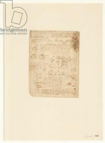 Codex Atlanticus, sheet 540 recto