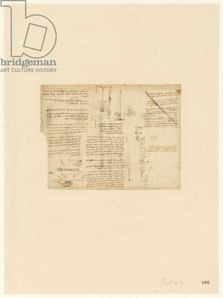 Codex Atlanticus, sheet 190 recto