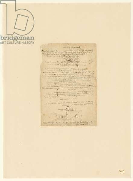 Codex Atlanticus, sheet 545 recto