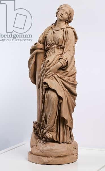 Saint Bibiana (molded & painted terracotta)