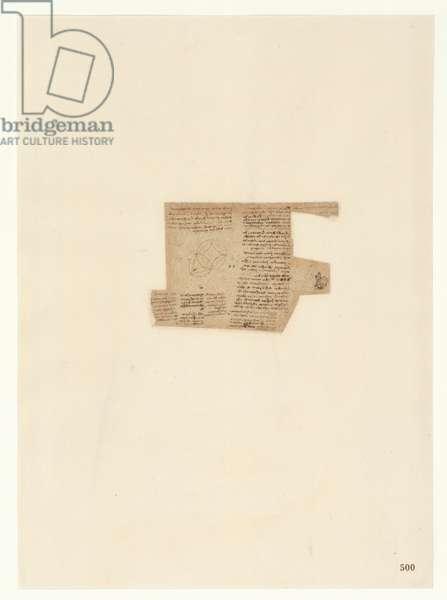 Codex Atlanticus, sheet 500 recto