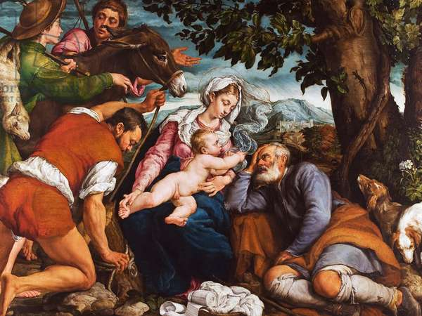 The Rest on the Flight into Egypt, 1547 (oil on canvas)