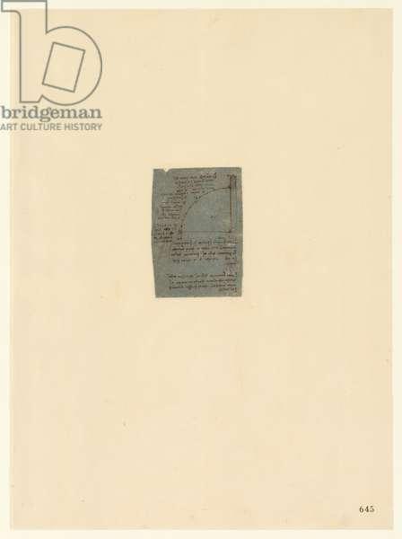 Codex Atlanticus, sheet 645 verso