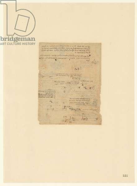 Codex Atlanticus, sheet 555 recto