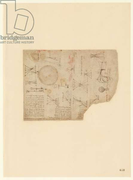Codex Atlanticus, sheet 650 recto