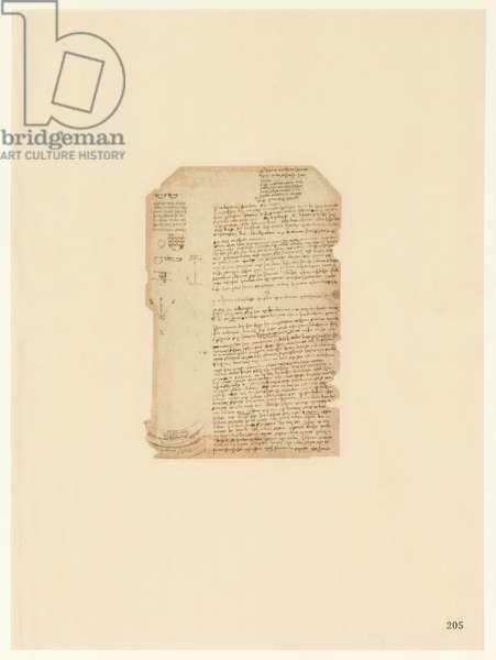 Codex Atlanticus, sheet 205 recto