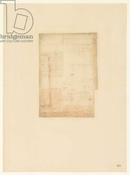 Codex Atlanticus, sheet 415 recto