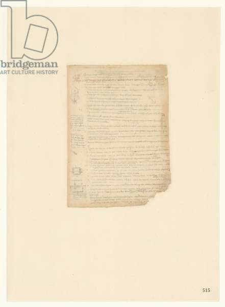 Codex Atlanticus, sheet 515 recto