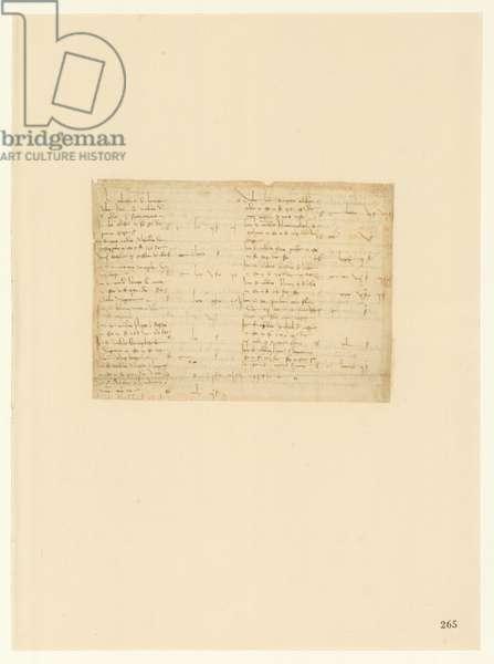 Codex Atlanticus, sheet 265 recto