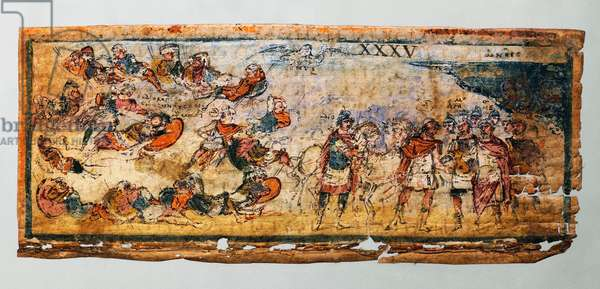 Ulysses and Diomedes making a massacre in the Trojan field, killing of Rhesus, the heroes coming back to the Greeks with Rhesus' horses