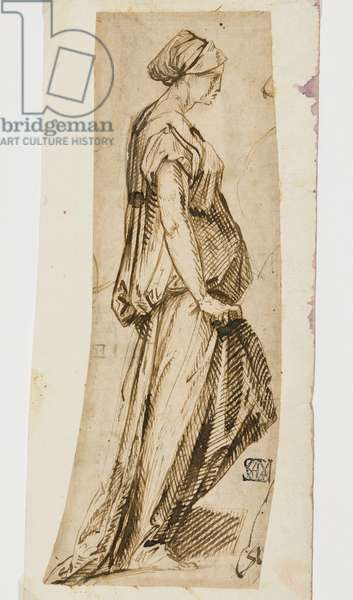 Woman with Draped Dress