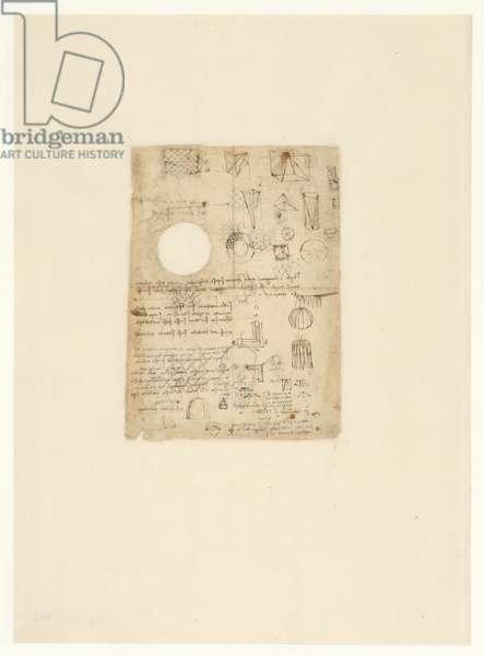 Codex Atlanticus, sheet 485 verso