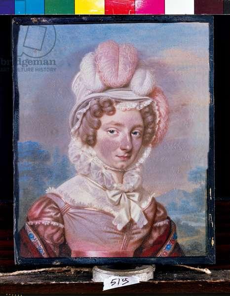 Portrait of Lady Isabella Melzi née Salazar, 1820 (pastel on paper)