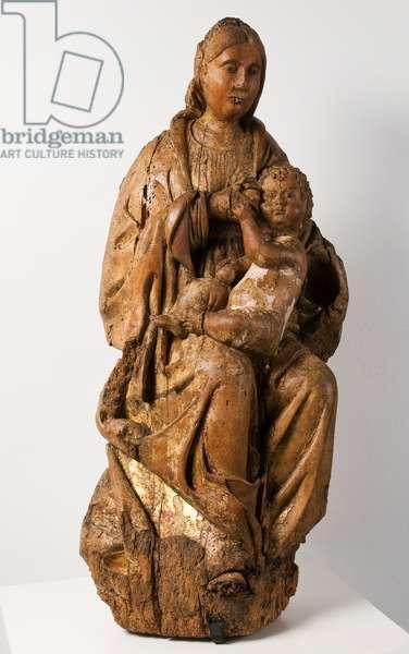 Madonna of Milk, 1450-1500 (carved, painted & gilt wood)