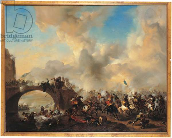 Knights Fighting by the Bridge, 1665-68 (oil on canvas)
