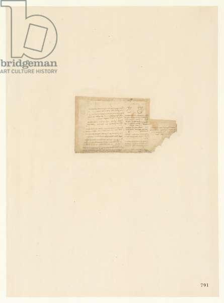 Codex Atlanticus, sheet 791 recto