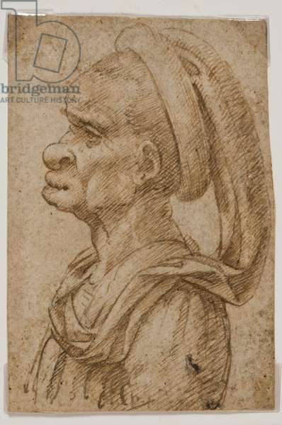 Grotesque Male Head with Hat