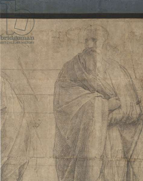 Plotinus, detail of the preparatory cartoon for The School of Athens, 1510 (charcoal and white lead)