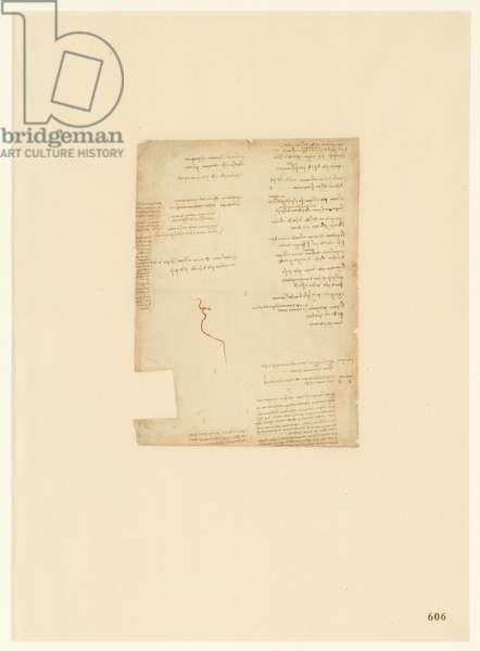 Codex Atlanticus, sheet 606 recto