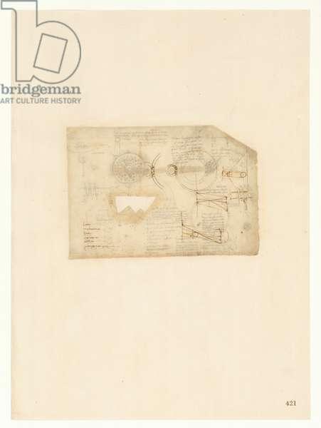 Codex Atlanticus, sheet 421 recto