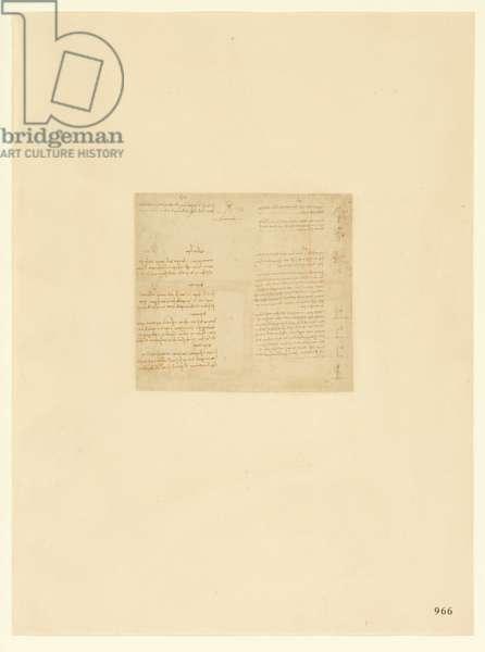 Codex Atlanticus, sheet 966 recto