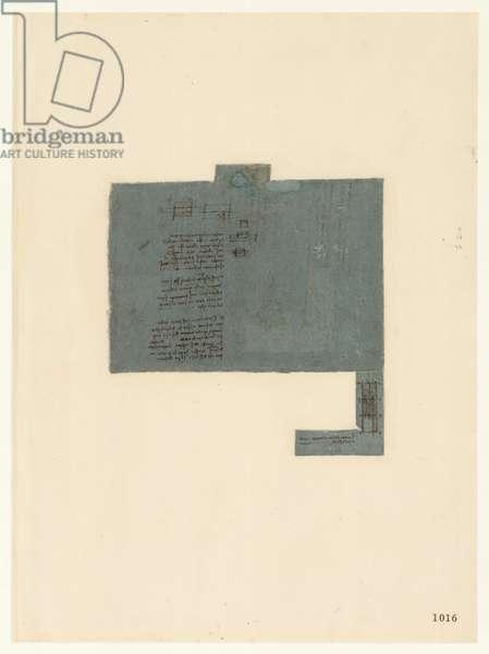Codex Atlanticus, sheet 1016 recto
