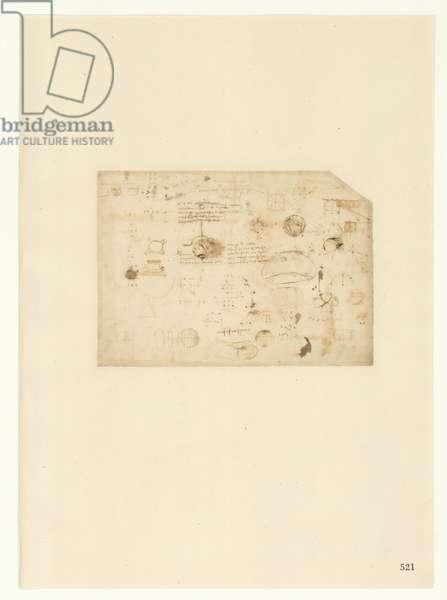 Codex Atlanticus, sheet 521 recto